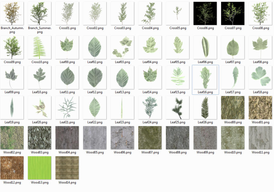 Free Mesh Trees for Second Life and OpenSim